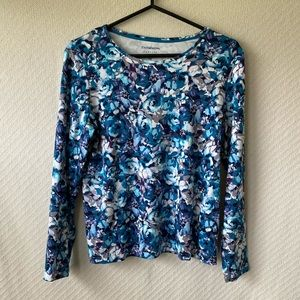 Croft & Barrow Cotton Floral Print Top- PM